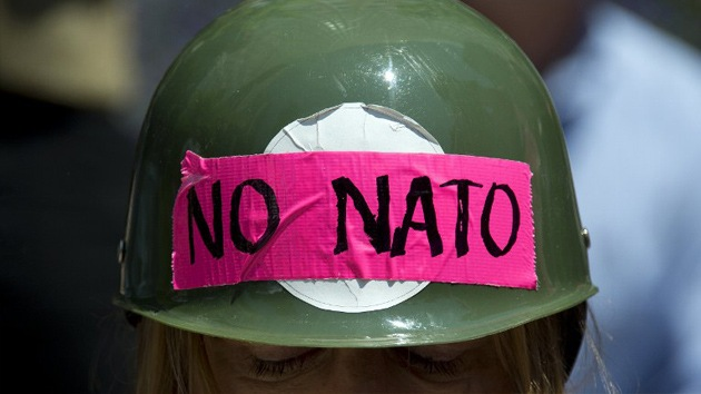 Multitudinaria protesta contra la OTAN en Chicago, EN VIVO