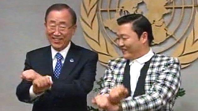 Video: Ban Ki-moon se 'sube al caballo' del estilo Gangnam