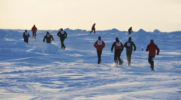 El maratón más frío se celebró en el Polo Norte