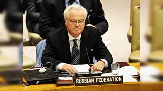 Embajador ruso ante la ONU: Rusia hará todo lo posible por evitar la guerra civil en Siria