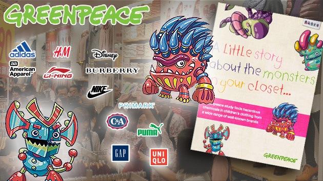 'Monstruos' en el armario: Greenpeace detecta químicos tóxicos en la ropa infantil