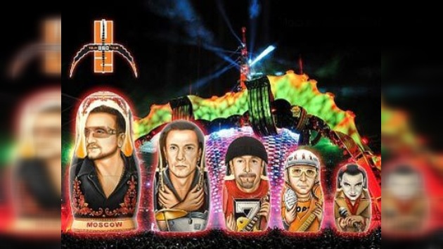U2: últimos preparativos para el concierto en Moscú