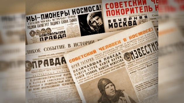 El 12 de abril de 1961 en la prensa sovietica