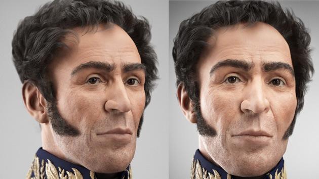 Hugo Chávez presenta la versión en 3D del rostro de Simón Bolívar