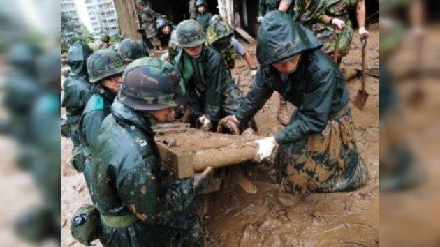 53 personas mueren en Corea del Sur a causa de aludes provocados por lluvias torrenciales