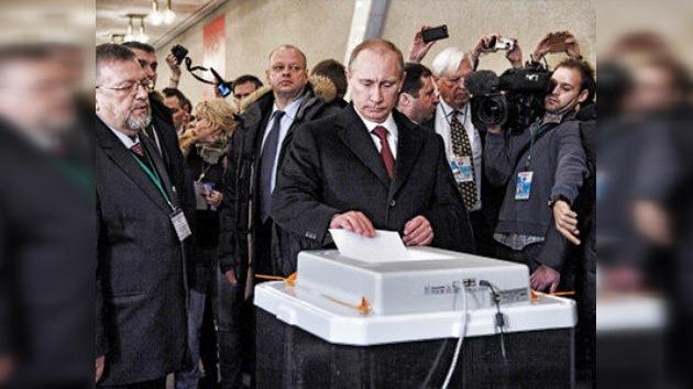 Vladímir Putin lidera el recuento con más del 60% de los votos
