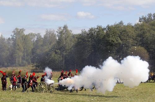 La batalla de Borodinó recreada al detalle
