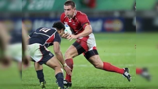 Rusia jugó su primer partido de la historia en la Copa del Mundo de Rugby
