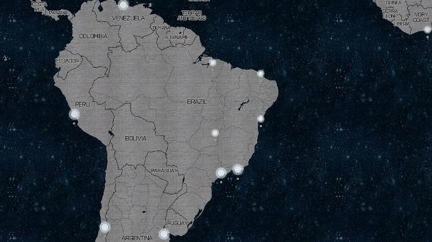 Crean un mapa interactivo que muestra la Tierra como si fuera la Estrella de la Muerte
