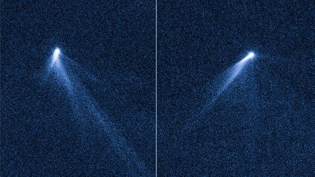 """El asteroide con seis colas, un """"aspersor giratorio"""" que enloquece a los astrónomos"""