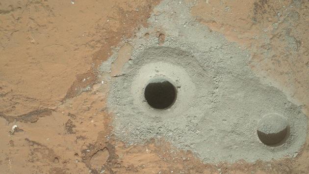Perforación histórica: Curiosity toma su primera muestra de roca en Marte