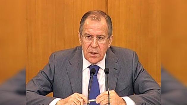"""Lavrov: """"los intentos de extender el modelo libio a otros conflictos son inaceptables"""""""