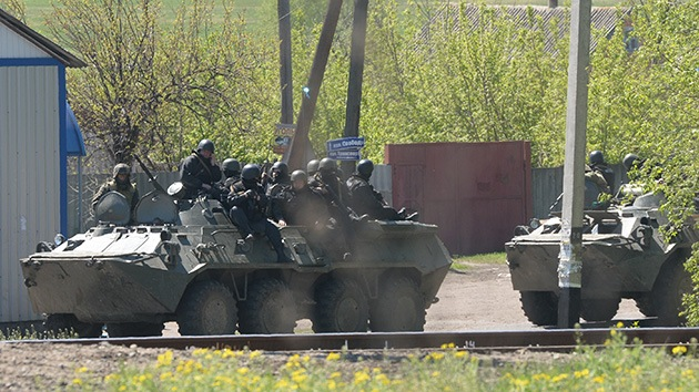 Disparos de mortero del Ejército ucraniano contra la ciudad de Krasni Limán