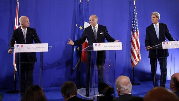 EE.UU., Francia y el Reino Unido acuerdan aumentar su apoyo a los rebeldes sirios