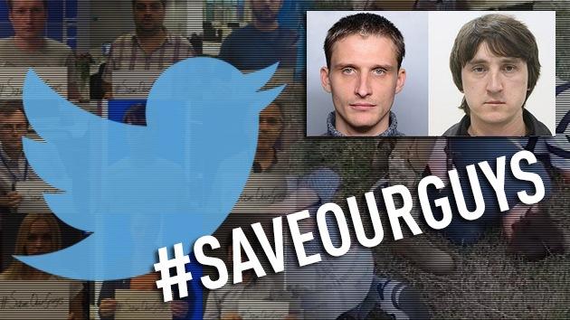 Miles de personas apoyan con #SaveOurGuys a los periodistas rusos maltratados en Ucrania