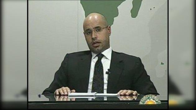 El hijo de Gaddafi reconoce que Francia está negociando con la administración libia