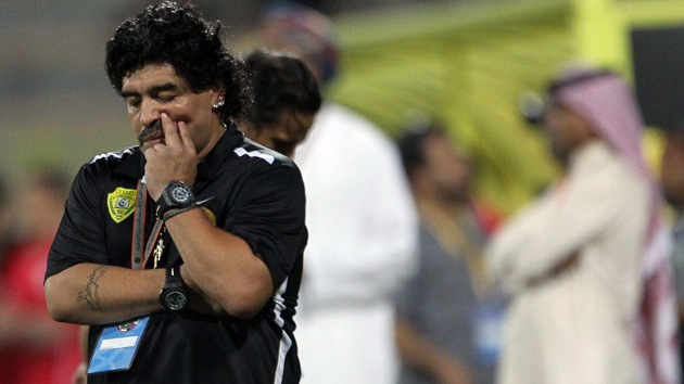 Despiden a Maradona como técnico del club emiratí Al Wasl