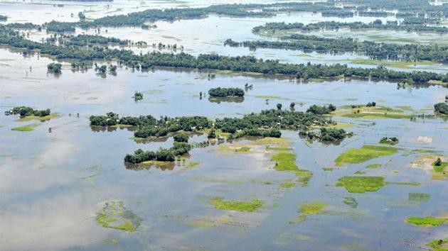 FOTOS: La fuerte inundación azota el este de la India
