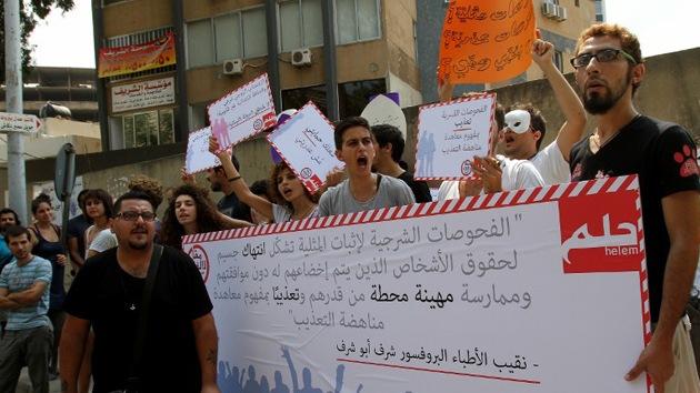 Los libaneses protestan contra las 'pruebas anales' de homosexualidad