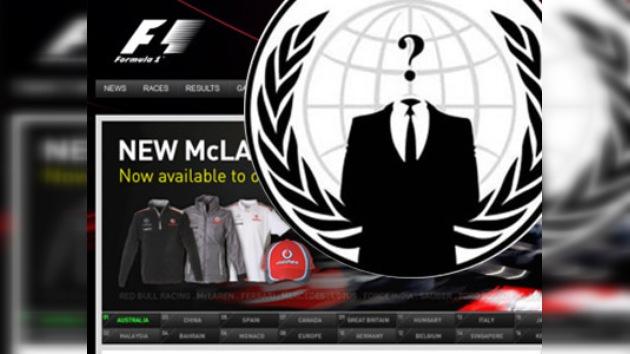 Anonymous 'hackea' la web de la F1 en señal de protesta por el GP de Bahréin