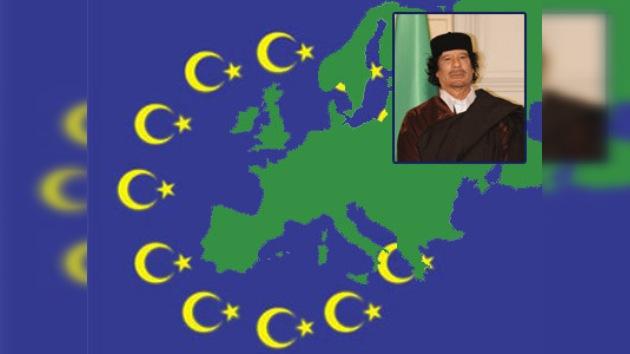 Gaddafi quiere que el Islam sea la religión de toda Europa