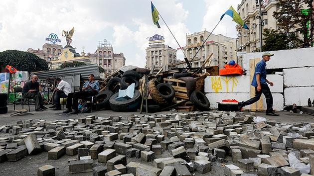 Kiev: Manifestantes exigen la renuncia de Poroshenko y un nuevo Maidán