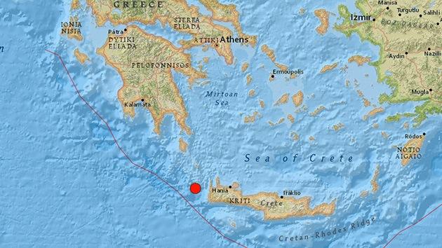 Un terremoto de 6,4 sacude Grecia