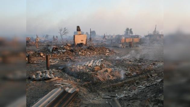 Se quema el 75 por cierto de casas en dos pueblos de Altái