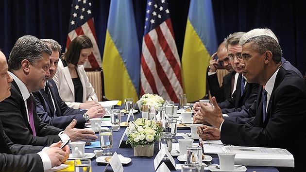 Obama y Poroshenko discuten la posibilidad de que EE.UU. entrene a los militares ucranianos