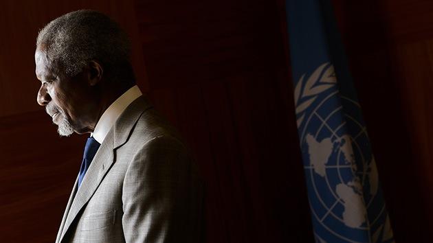 Kofi Annan deja de mediar en Siria