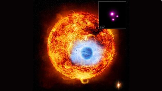 Avistan el eclipse de una estrella gigante con rayos X por primera vez