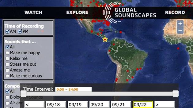 Un mapamundi digital recoge todos los sonidos del planeta