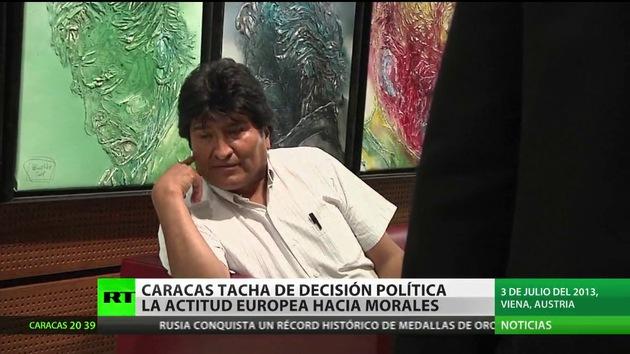 Venezuela tacha el bloqueo del avión de Evo Morales de decisión política