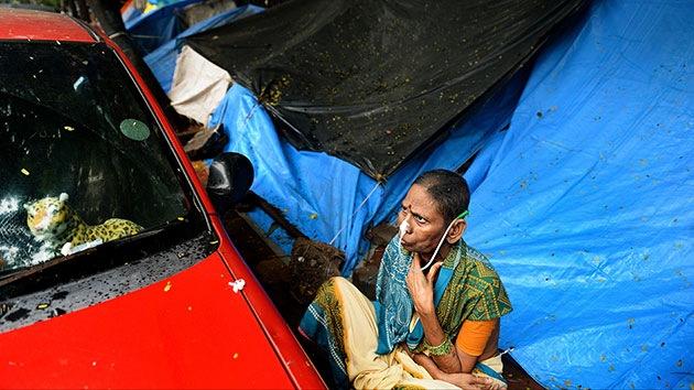 Fotos: Los pacientes con cáncer en la India se ven obligados a vivir en la calle