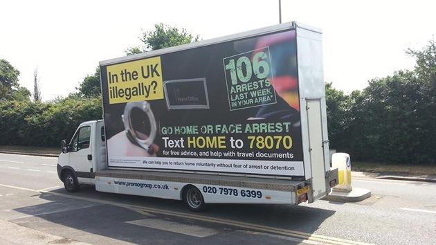 Londres presenta polémica campaña que invita a inmigrantes irregulares a irse a casa