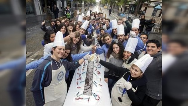 Crean en España la tableta de chocolate más grande del mundo