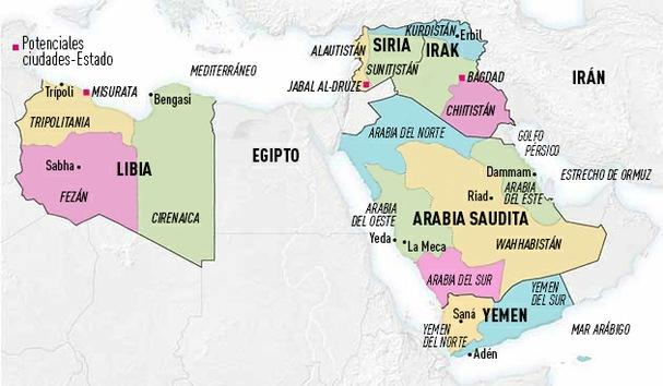 Oriente Medio reconfigurado: de 5 a 14 países