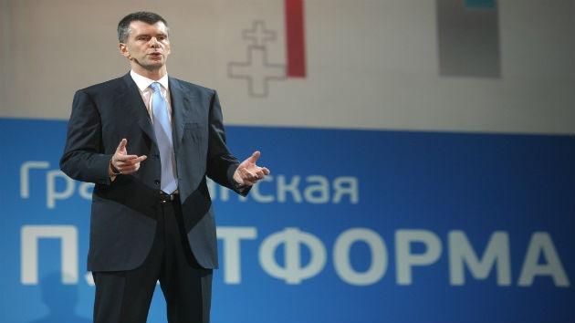 El multimillonario ruso Mijaíl Prójorov se vuelca en la política