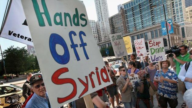 La gente de EE.UU. y Reino Unido se opone a la intervención militar en Siria