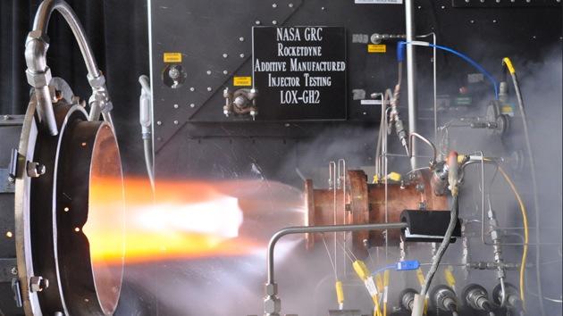 La NASA realiza con éxito las pruebas de un motor de cohete impreso en 3D