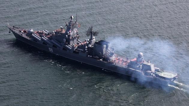 Dos buques insignia de la Armada de Rusia llegan al mar Mediterráneo