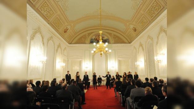 Primeros sonidos de música en el Teatro Bolshoi