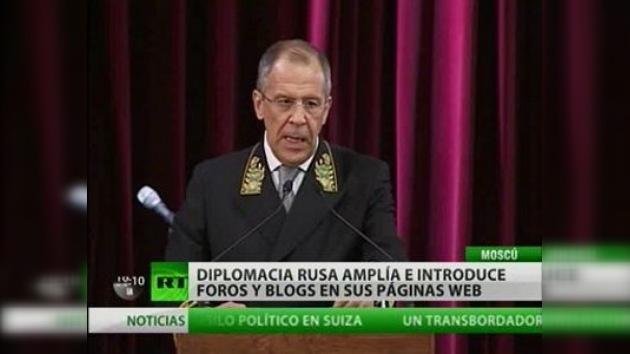 El canciller ruso felicitó a sus colegas con motivo del Día del Diplomático