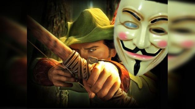 Anonymous se disfraza de Robin Hood