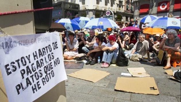 'Indignados' en España celebran primer aniversario del 15M con movilizaciones