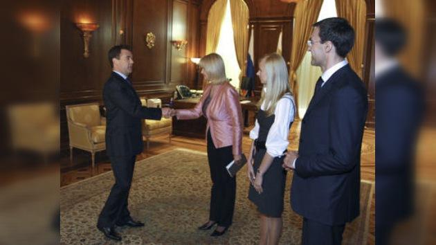 Entrevista con Medvédev antes de su visita a Ucrania