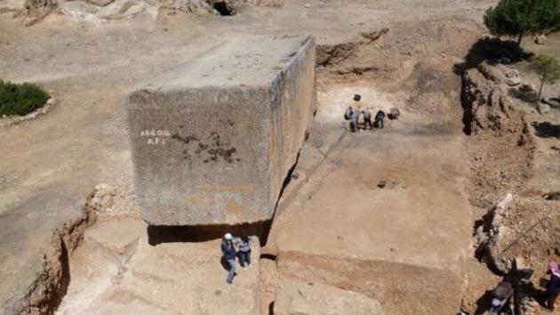 Descubren el bloque de piedra más antiguo y grande del mundo