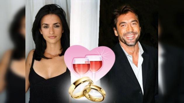 Penélope Cruz y Javier Bardem, casados en secreto