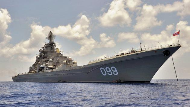 El crucero de misiles Piotr Veliki asume el mando de la escuadra rusa en el Mediterráneo