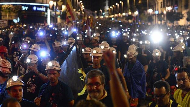 Protestas de mineros en España